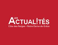 Les Actualités - Editorial mockup & visual identity