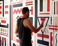 Роспись в Тандыр №1 Mural for Tandyr Number 1