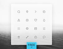 Free Laconic Icons Set