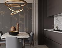Kitchen-studio design and vizualization
