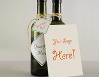Free Wine Bottle & Greeting Card MockUp 0.33 ml