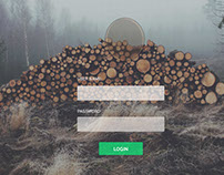 Woody Login Page - Free PSD