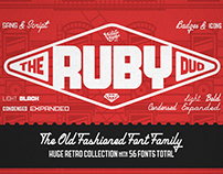The Ruby Duo • Font Family of 56