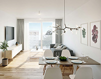 MODERN APARTMENT WITH WHITE WALLS