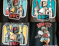 Boba Fett Fan Club anniversary shirts