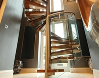 St. Johns Wood Park Bespoke Curved Staircase