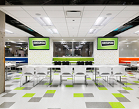 Groupon Cafeteria, Chicago, IL Architect: Box Studios