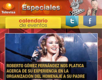 Televisa Especiales Web Mobile