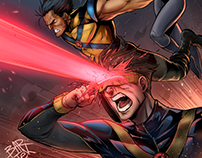 X-Men, Ilustration (pens /inks and colors)