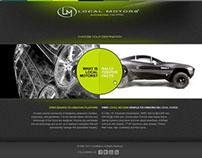Local Motors - web design