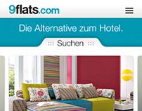9flats.com Mobile-Website