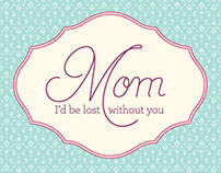 Mom, I love you. Digital Ensemble for Stampin' Up!