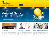 Copres Materiais Elétricos - Layout WebSite
