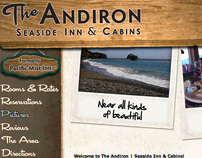 The Andiron - Seaside Inn & Cabins - logo and website