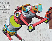 """SPARK of LIFE"" Street-Art by Xèlön xlf"