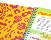 Peace, Love & Stencils Activity Book
