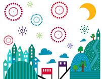 Afiche Año Nuevo Valparaíso