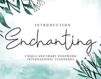 FREE | Enchanting Font