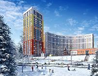 """Visualization """"Ultra city"""" - winter"""