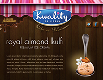 Kwality Ice Cream - Mock Design
