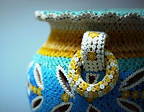 MaD Quilled Pot in Yellow & Blue