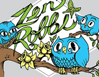 Zen Robbi Girls Owl Tee