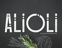 Alioli - Texture Geometric Font