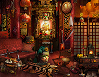 Hidden Object Scenes // Matte Painting // Game Art