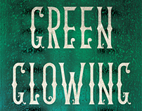 Green Glowing Skull book cover design