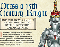 Dress a 15th Century Knight interactive learning