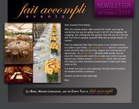 Newsletter design | fait accompli events
