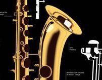 Saxofone Tenor // Infography
