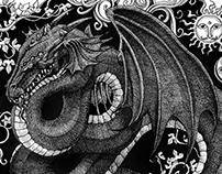 'Spirit of the Dragon'- Pen Illustration