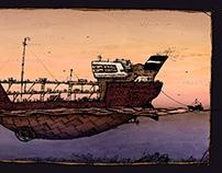 Black schooner