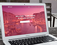 Free PSD - Traveling Website