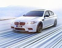 BMW M5 snow white