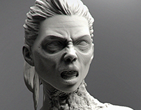Zombie Jessica 1/24 scale Bust