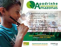 Anúncios - Apadrinhe uma escola no Amazonas