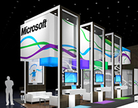 Microsoft Health 30' x 40' RSNA exhibit design