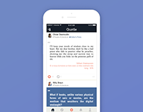 Quotle, mobile app to save, share and discover quotes