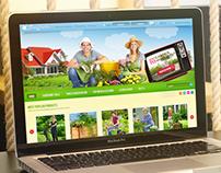 Sunny Garden - E-commerce design concept