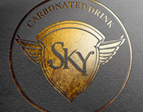 Sky logo ( carbonated juice)