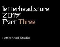 Letterhead.store 2019 Part Three