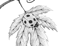 Dotwork ladybugs