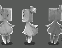 Cube Girl Character art