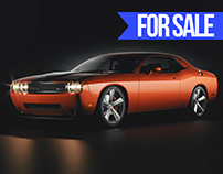 Challenger // 3D car model ready to render
