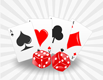 Poker Cards & Dice Illustration