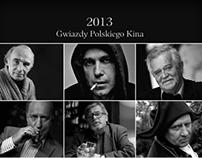 Gwiazdy Polskiego Kina. Kalendarz na rok 2013.