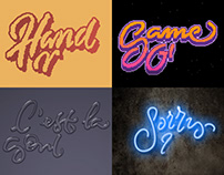Photoshop lettering animations