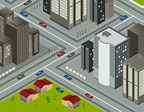 Isometric city illustrations